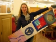 Martina Schurl, Garmisch-Partenkirchen, with part of the PEACE AND LOVE project